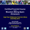 Join us for a High Peak Wilderness First Aid Course in the Sun of Almanzora, Spain