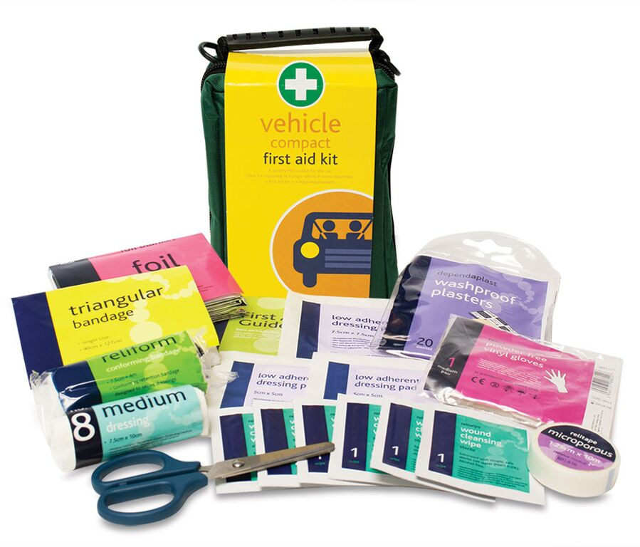 First Aid Kits For Vehicles : Vehicle compact kit high peak first aid